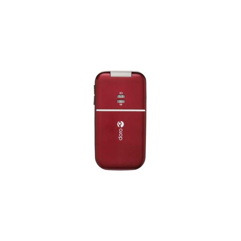 Doro 410 Burgundy (Consumer Cellular) Cell Phones