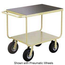 Little Giant® Mobile Instrument Cart Tubular Frame 24x36 Polyurethane Whls