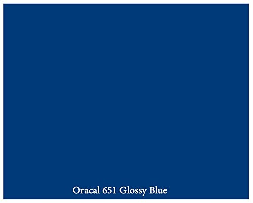 "12"" X 10 Ft Roll Of Glossy Oracal 651 Blue Repositionable Adhesive-Backed Vinyl For Craft Cutters, Punches And Vinyl Sign Cutters By Vinylxsticker front-888494"
