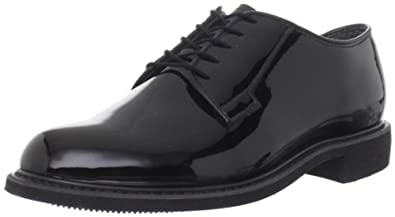 Bates Men's High Gloss Uniform Work Shoe,Black,3 C US