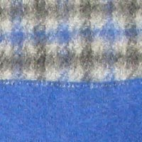 Blue  &  Silver Grey Men's Check Cashmere Scarf - Pure Cashmere Scarf for Men - Made in Scotland - Lovarzi