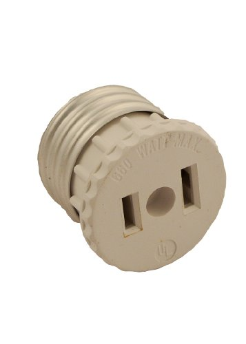 Images for Leviton 125 15 Amp, 660 Watt, 125 Volt, 2-Pole, 2-Wire, Socket To Outlet Adapter