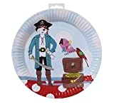 Talking Tables Pirate Party Plate, Pack of 8