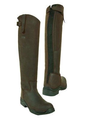 Toggi Calgary Long Leather Riding Boot With Full Zip, Wide Leg Fitting, In Cheeco Brown, Size: 5 (EU 38)