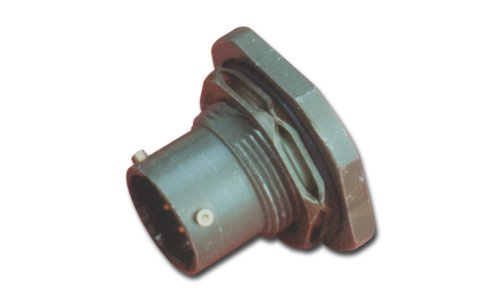 Amphenol Industrial PT07A-8-3S Circular Connector Socket, General Duty, Non-Environmental, Bayonet Coupling, Solder Termination, Jam Nut Receptacle, 8-3 Insert Arrangement, 8 Shell Size, 3 Contacts
