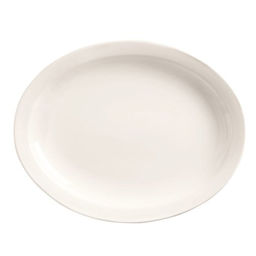 World Tableware 840-530N-18 Porcelana Nr Oval Platter - 12 / Cs