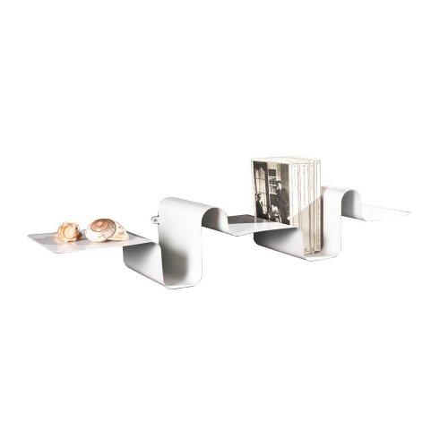 Tomasucci Winding mensola in metallo laccata bianca