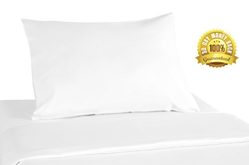 Luxurious Polyester Microfiber Pillow - Standard Size - Handmade in USA - Hypoallergenic Bed Pillow - Pillowcase Filled With Treated Polyester Fibers - Machine Washable Standard FiberFilled Pillows