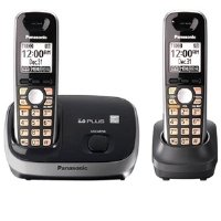 Panasonic KX-TG6512B DECT 6.0 PLUS Expandable Digital Cordless Phone System with 2 Handsets
