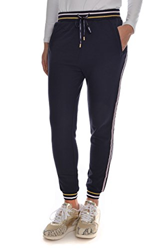 <p>LIU JO SPORT Pantaloni felpa molla fondo donna, T66026 blu, vestibilità slim</p>