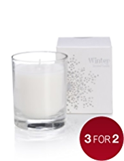Winter Filled Candle