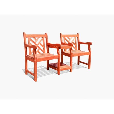 Vifah V1450 Atlantic Outdoor Partner Armchair with Mini Table picture