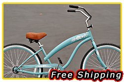 Free Shipping! Fito Modena Sport 1-speed Women - Sky Blue, 26