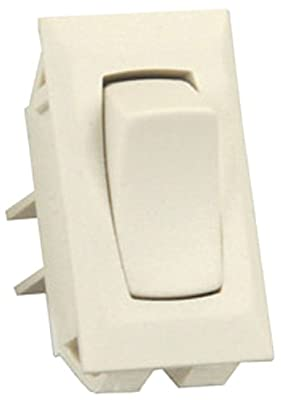 JR Products 13411-5 Ivory Unlabeled On/Off Switch - Pack of 5