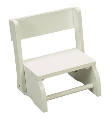 Gift Mark Childrens Flip Stool, White, Small