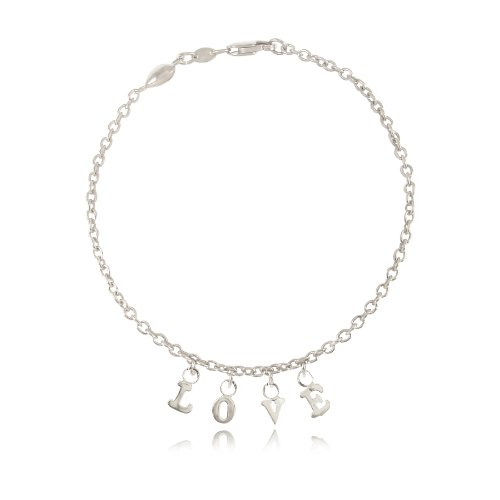 14k (0.585) White Gold Love Charm Bracelet (White 14k Gold) Yellow Gold Is Also Available
