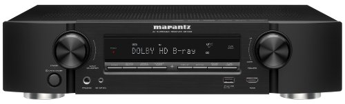Marantz NR1603 Slim Line 7.1 Channel 3D Pass Through Networking Home Theater Receiver with AirPlay (Black)