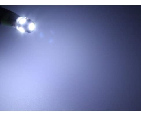 E10 口金サイズ LED豆電球 【3~5V対応】 5LED ホワイト1個単品売り