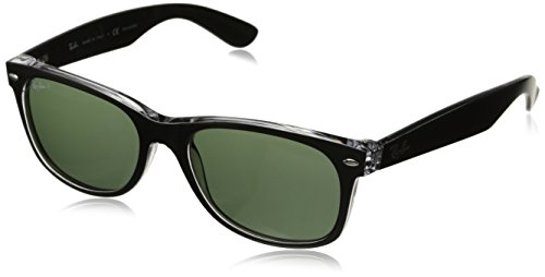 Ray-Ban Sunglasses - RB2132 Wayfarer / Frame: Top Black on Transparent Lens: Green Polarized (55mm)