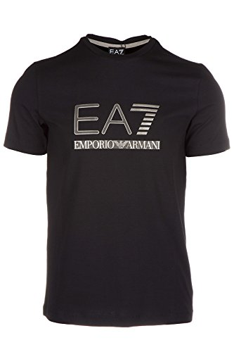 Emporio Armani EA7 t-shirt maglia maniche corte girocollo uomo nero EU M (UK 38) 6XPTA5 PJ18Z 1200