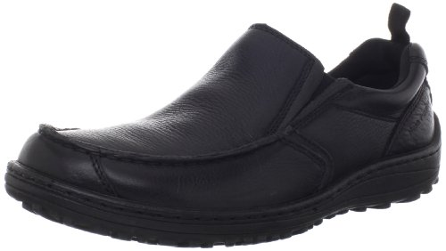 Hush Puppies Men's Belfast MT Slip-On Loafer, Black, 9 XW US