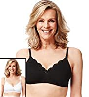 2 Pack Per Una Post Surgery Smoothing A-DD Bras