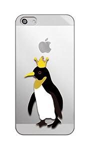 Apple / SoftBank / au iPhone5 対応 携帯ケース 1154王様ペンギン ( クリア )