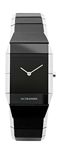 JACOB JENSEN - 560 - Montre Mixte - Quartz - Analogique - Bracelet Acier inoxydable noir
