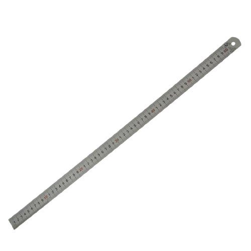 Amico Marked Metric 60cm Stainless Steel Straight Ruler Measuring Tool