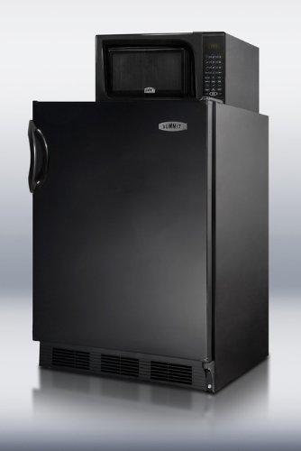 Summit Mrf66B: Compact Refrigerator-Freezer-Microwave Unit With Dual Evaporator Cooling And Black Exterior Finish
