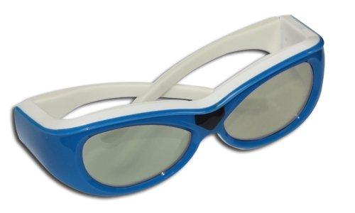 Ultra (TM) Infrarot Kinder Childrens Active Shutter 3D-Brille von Gonbes blau in Farbe für Samsung Sony Panasonic LG Sharp Toshiba Philips Epson Mitsubishi TVs