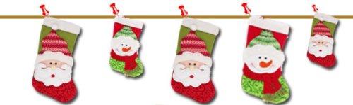 AJMstyle 大きい クリスマス ブーツ ソックス 靴下 サンタクロース サンタ スノーマン 雪だるま お菓子 ツリー 飾り オーナメント 【BWS-327】 プレゼント 子供 袋 くつした 装飾 (サンタクロース)