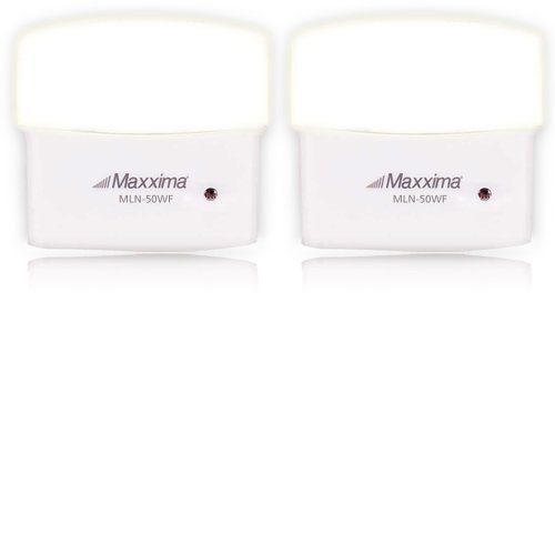Maxxima Mln-50 5 Led Warm White Night Light With Frosted Lens And Sensor (Pack Of 2)