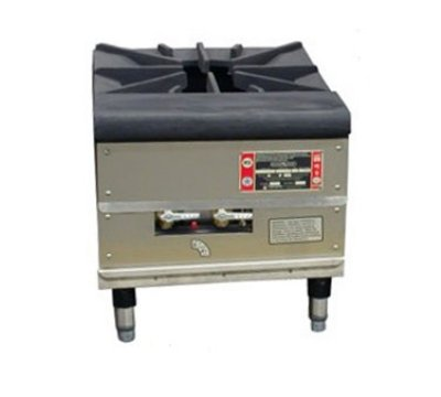 Town Food Service Sr-24-G-Ss Ng 18 In Stock Pot Stove, Cast Iron Grate, 3/4 In Rear Gas Connection, Ng, Each