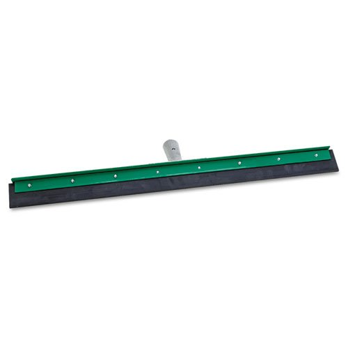 "Unger Products - Unger - AquaDozer Heavy Duty Squeegee, Black Rubber, Straight, 24"" Wide Blade - Sold As 1 Each - All-purpose squeegees handle the toughest jobs. - Rugged painted frame and cast zinc socket. - For use in moving large volumes of water, mud, debris, waste, scraps, slush or snow and flood clean-up. - Great for construction sites, plants, factories, large commercial areas, loading docks, agricultural, food processing, arenas, outdoor areas and around large drains. - Use on coate"