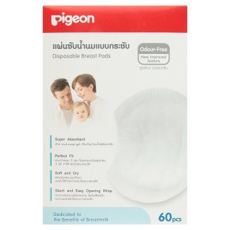 [Wazashop] Pigeon Disposable Breast Pads 60 Pcs (Odour Free) Best Seller Of Thailand front-1080639