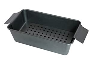 """Tosnail 12"""" X 6"""" X 3"""" Set of 2 Non-stick Meatloaf Pan with a Perforated Elevated Lifter"""