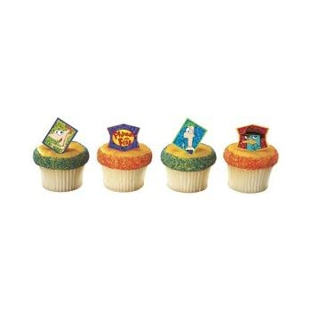Disney's Phineas and Ferb Cupcake Rings