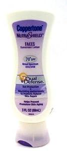 Coppertone SPF#70+ Nutrashield Face Dual Defense 3 oz.