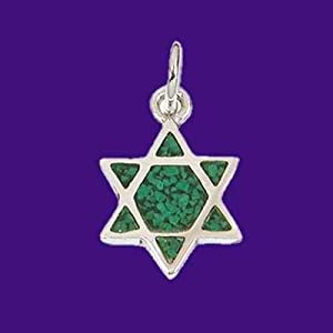 Necklace Star Of David (Sterling Silver) (Eliat Stone)