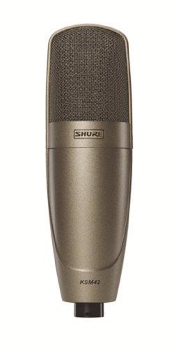 Shure Ksm42 Large Dual-Diaphragm, Side-Address Condenser Vocal Microphone