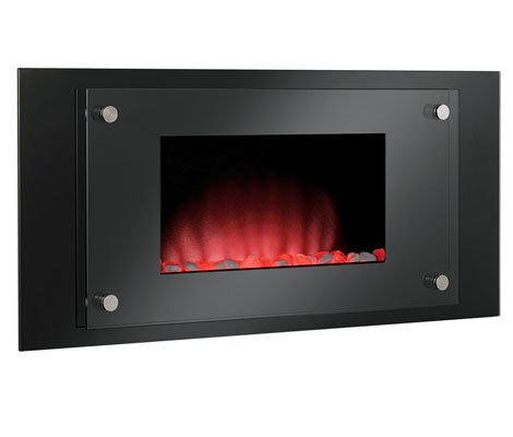 Classic Flame Harmony Wall Hanging Electric Fireplaces in Black photo B004D7WP2W.jpg