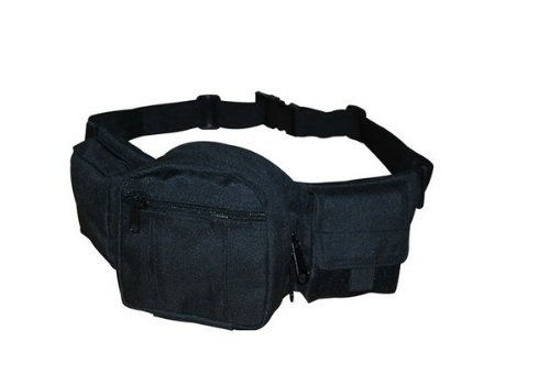 Ultimate Arms Gear Tactical Stealth Black Fanny Waist Utility Belt Pack With Concealed Carry Universal Gun Pistol Holster by Ultimate Arms Gear