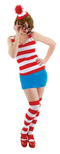 Elope Womens Storybook Where'S Waldo Wenda Kit Halloween Party Fancy Costume