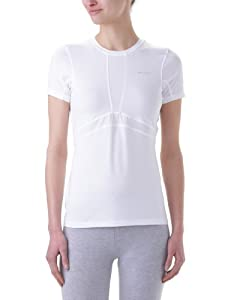 Columbia Women's Base Layer Lightweight Short Sleeve Top (Small, White)