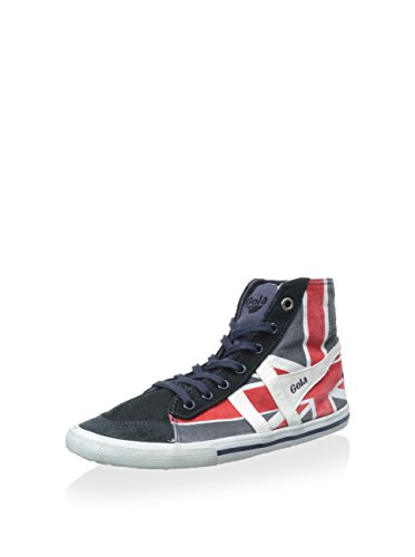 Gola Quota High Union Jack Women's Canvas Sneaker, Navy/White/Red