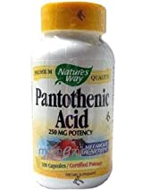Pantothenic Acid 250 mg 100 Capsules by Nature's Way