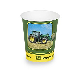 John Deere 9 oz. Cups (8) Party Supplies