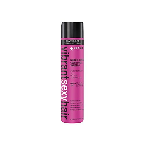 Sexyhair Vibrant Sulfate-free Color Lock Shampoo Rose & Almond Oil 10.1 Oz by Sexy Hair