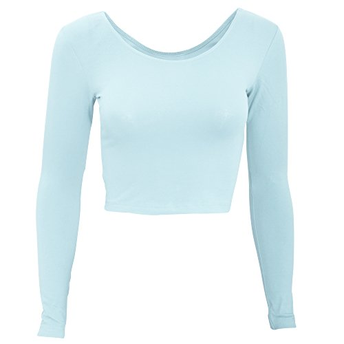 american-apparel-womens-ladies-plain-long-sleeve-cropped-t-shirt-s-menthe